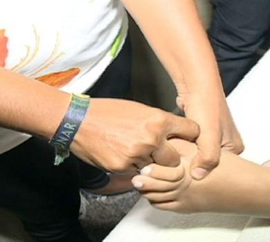 Os pés merecem cuidados (FOTO: Reprodução TV Jangadeiro)