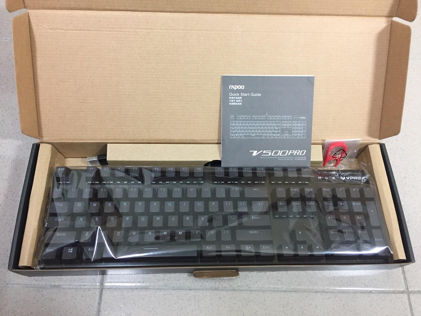雷柏 V500PRO 青軸鍵盤