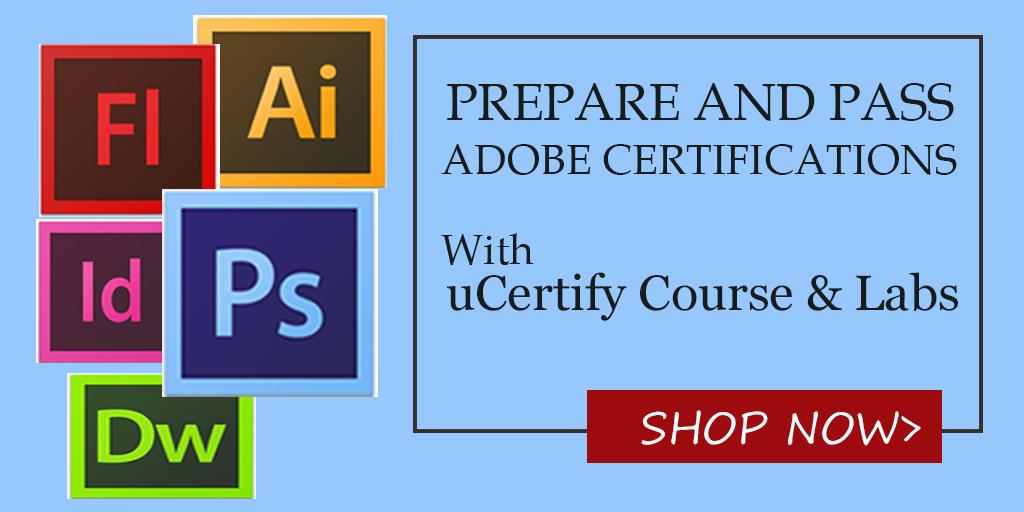 certification adobe deserve ucertify promotion