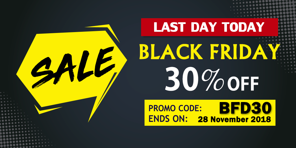 Avail 30% Off Now Before Black Friday Sale Gets Expired!