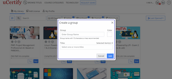 The figure is showing the Create a group modal box.