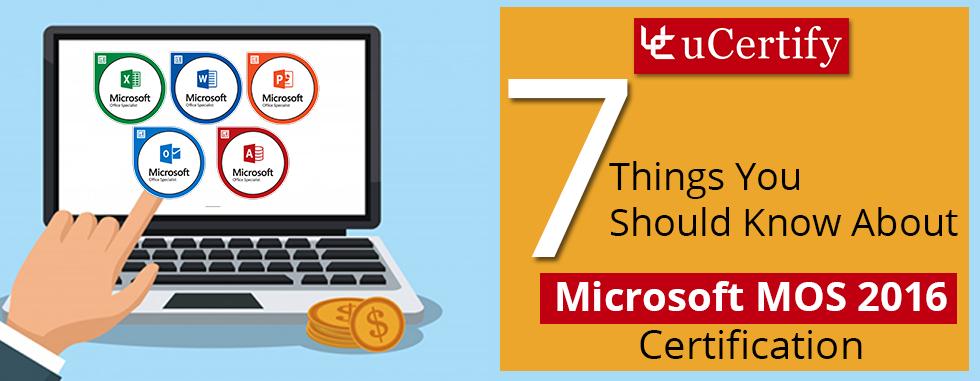 Mos Certification Microsoft Training Programs Ucertify