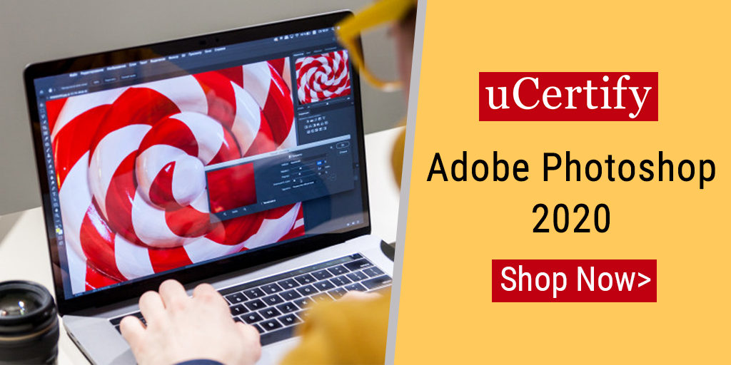 Check out uCertify's Adobe Photoshop 2020 Course