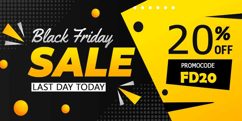 Last chance to avail 20% discount at Black Friday Sale!