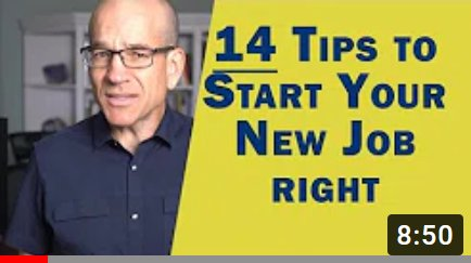 tips to start your new job