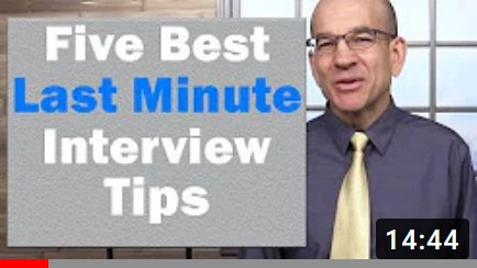 last minute job interview tips