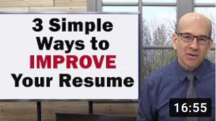 how to write or improve your resume