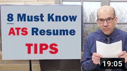 how to write your resume for the ATS - Applicant Tracking System