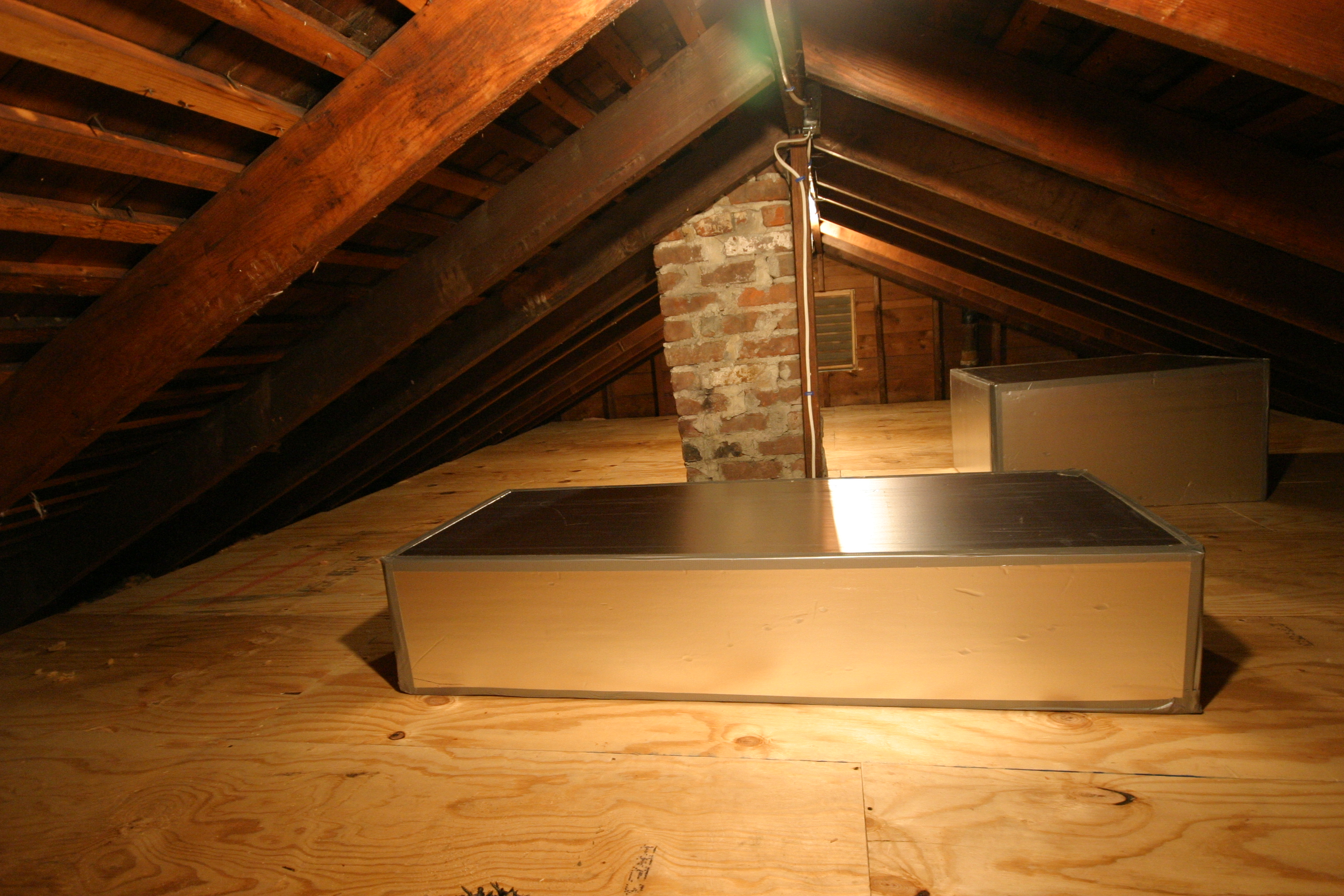 Attic Framing Insulation Plywood Jkranz Carpentry