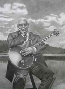 B.B. King Pencil Drawing