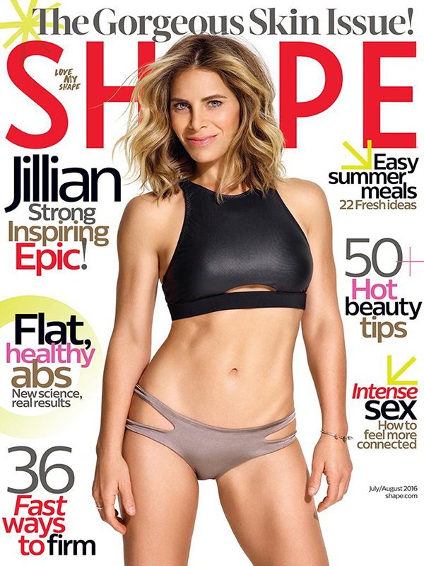 Shape Magazine July/August 2016 Cover with Jillian Michaels