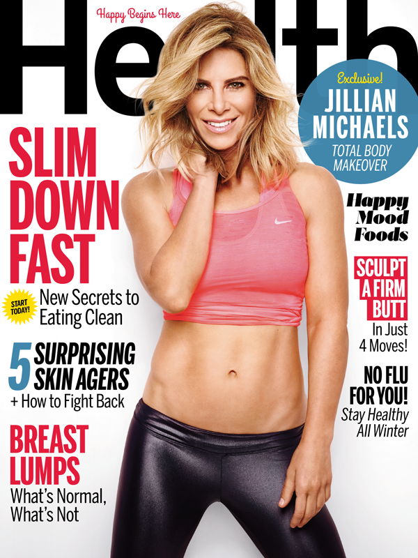 Health Magazine October 2015 Cover with Jillian Michaels