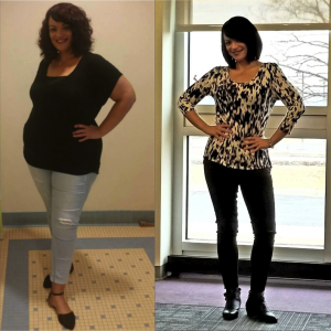 Michelle B. lost 100 pounds with Jillian Michaels dynamic My Fitness app.