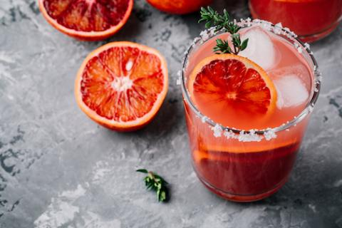 Skinny Blood Orange Margarita