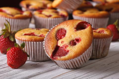 Strawberry Shortcake Muffins