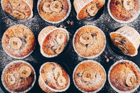 Peanut Butter Banana Mini Muffins recipe