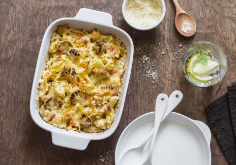 Collagen Cauliflower Mac N Cheese