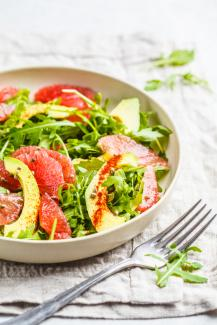 Grapefruit Avocado Prosciutto Salad