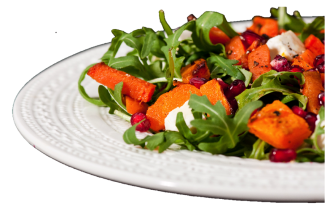 Pumpkin Pomegranate Salad