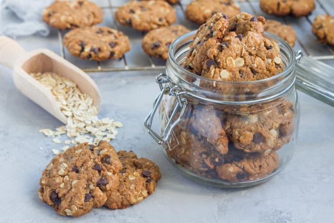 Peanut Butter Chocolate Oar Cookies