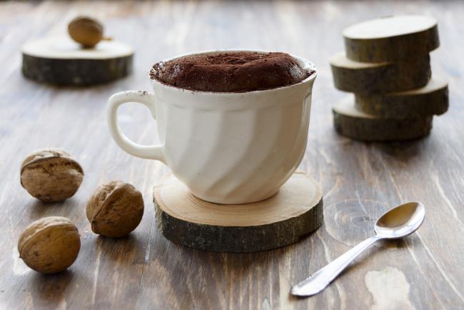 Mocha Protein Brownie in a mug