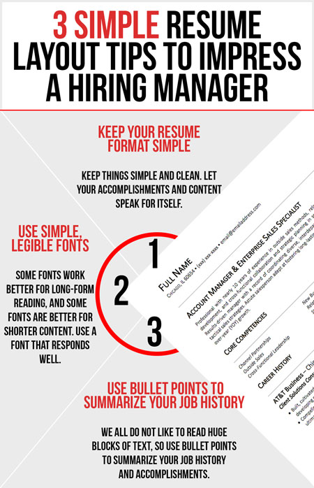 3 Simple Resume Layout Tips To Impress A Hiring Manager