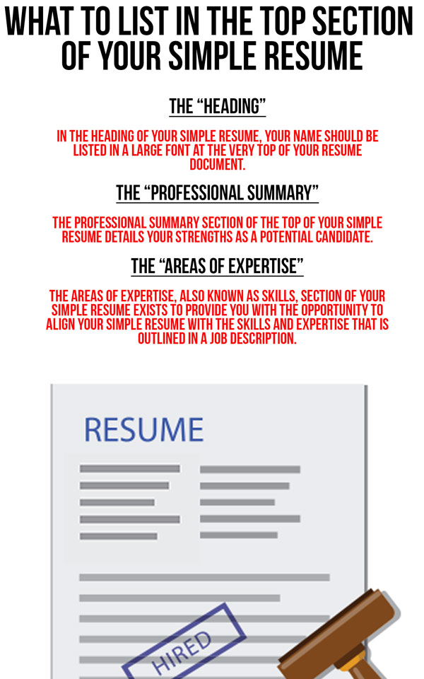 job candidates resume that contains the heading professional summary and areas of expertise gets
