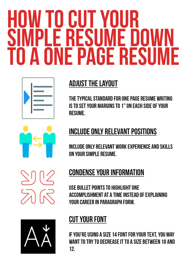 adjust layout, include relevant positions, condense, and cut your font down to make one page resume