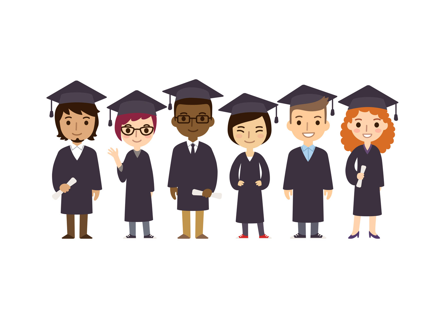 happy college graduates show that education is important for a resume