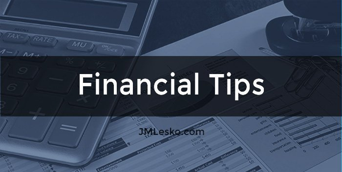 JM Lesko Category of Financial Tips