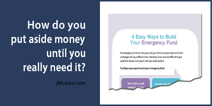 Easy Ways to Build Fund title by JM Lesko