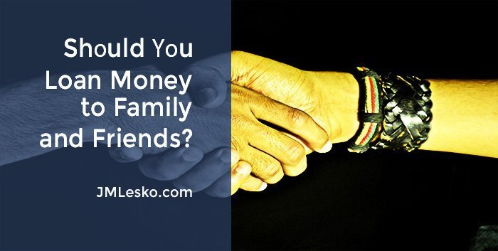 two people shaking hands image for J M Lesko article 9 Tips Before You Loan Money to Family and Friends
