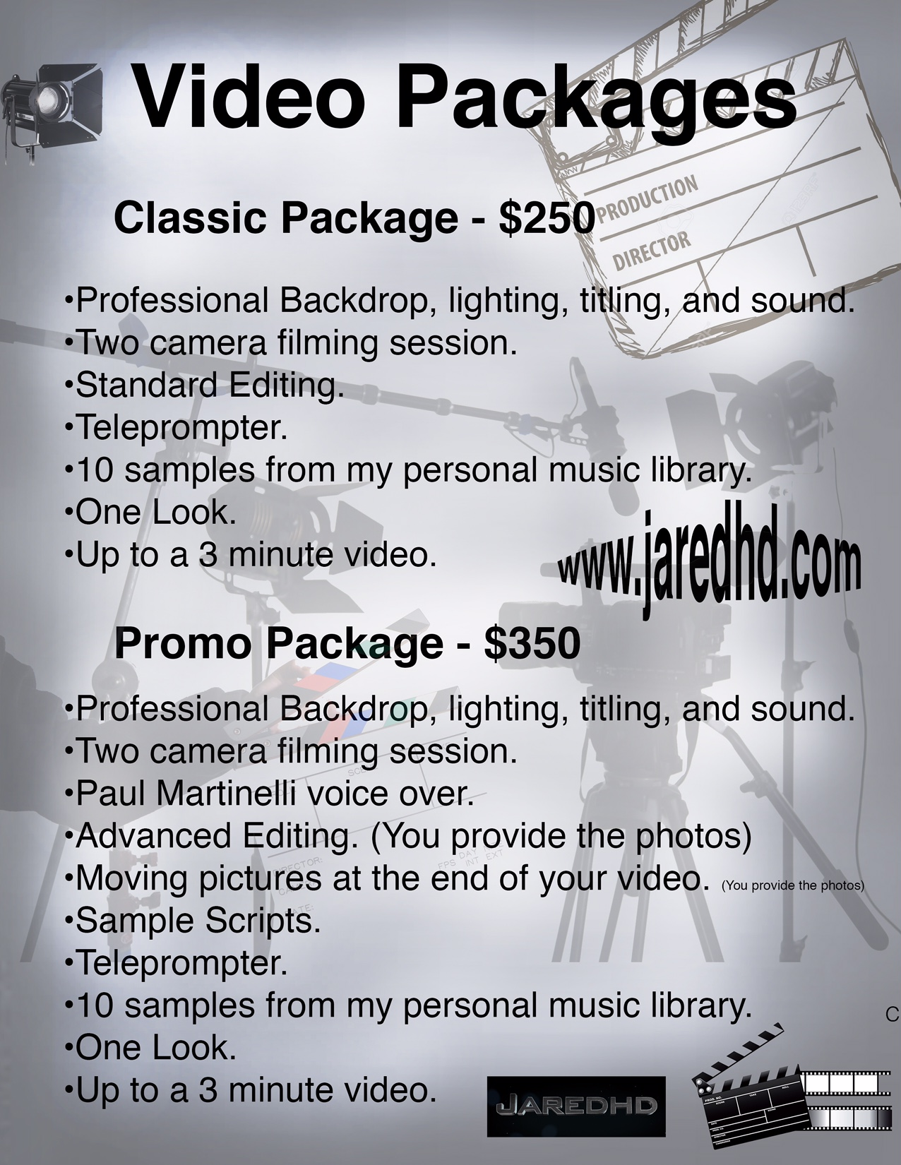 Classic Video Package Information