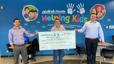 Evansville Honda donates $1,500 to The Isaiah 1:17 Project.