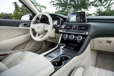 The interior of the 2020 G70.