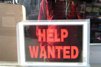 Help wanted signs are popping up again as the U.S. turns in the lowest unemployment rate since 2000.