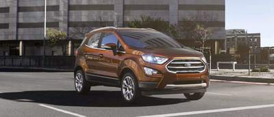 """The Ford EcoSport features an """"auto start and stop."""""""