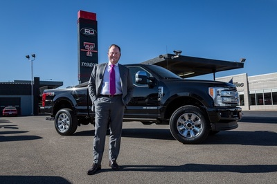 art Reagor at the location of the original pre-owned dealership in Lubbock, Tx.