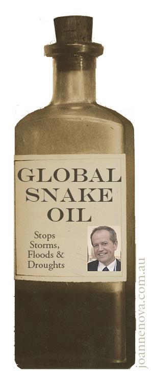 Snake Oil Salesman, Climate Quack. Bill Shorten.