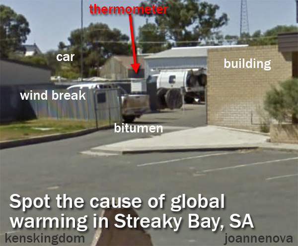 Feast your eyes on Streaky Bay's thermometer — over bitumen for 31