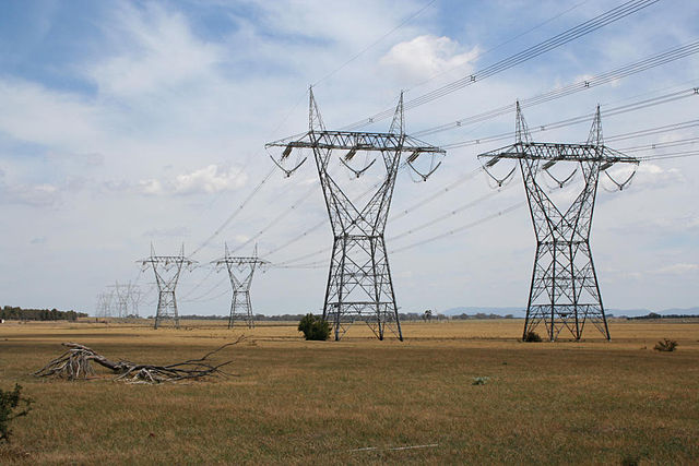 Interconnector, transmission lines, 500kV, Australia. Photo