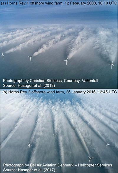 Wake Effect of Wind Turbines, photo.