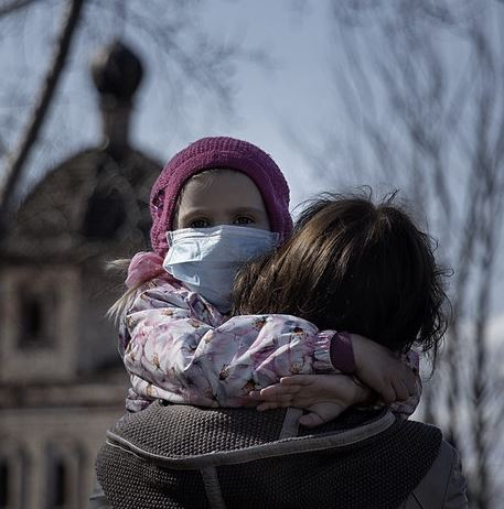Child Wearing a a Mask. Author vperemen.com