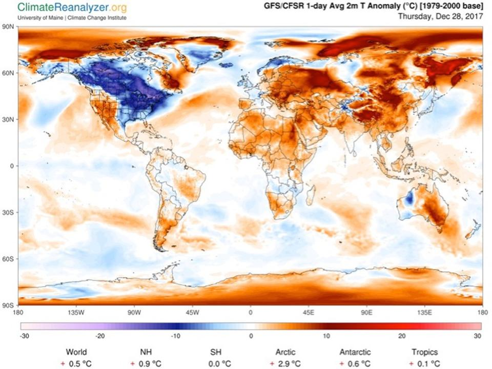 This extreme cold is just weather but all heat waves are climate