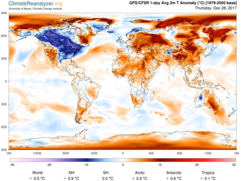 Global Temperature graph, Map.