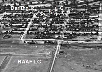 Bourke, Aerial view, 1941, Photo.
