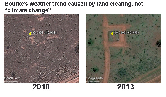 Bourke, Bureau of Meteorology, site changes, photograph, land clearing.