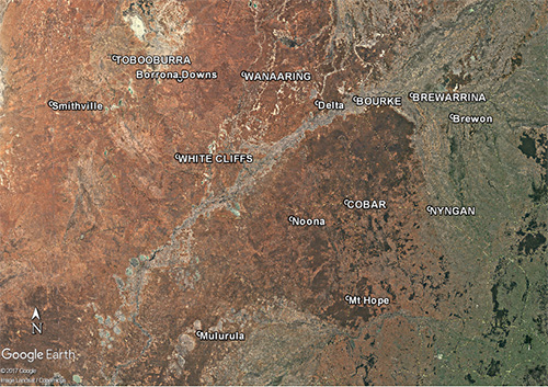 Bourke area, NSW, Weather Stations, Bureau of Meteorology.