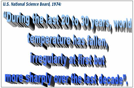 US NAtional Science Board 1974. Temperatures falling sharply!