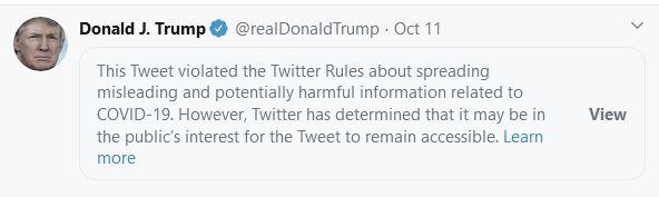 Deleted Donald Trump. Tweet.